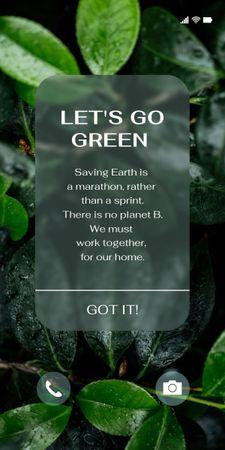 Modèle de visuel Eco Concept with Green Plant - Graphic