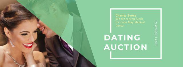 Ontwerpsjabloon van Facebook cover van Dating Auction in Cafe
