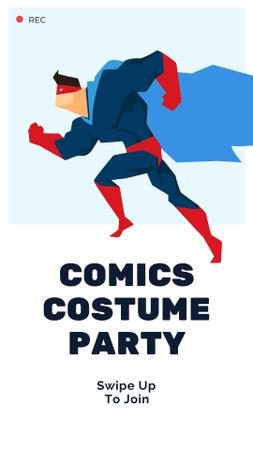 Plantilla de diseño de Comics Costume Party Announcement with Superhero Instagram Story