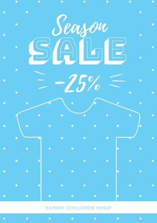 Template di design Season sale with Kids Poster