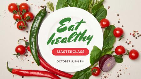 Nutrition Blog Promotion Healthy Vegetables Frame FB event cover Modelo de Design