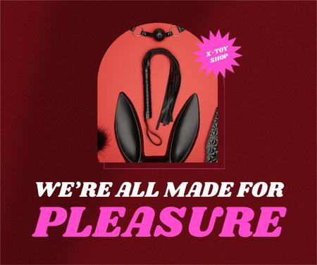 Sex Shop Offer with Black Whip Facebook – шаблон для дизайна
