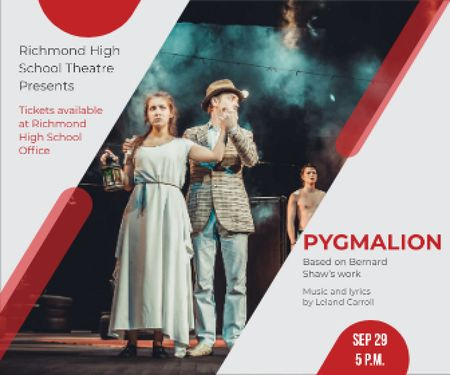Pygmalion performance in Richmond High Theater Large Rectangle Modelo de Design