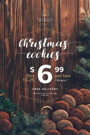 Christmas Offer with Sweet Cookies Tumblr tervezősablon