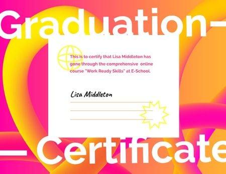 Educational Course Completion Award Certificate Modelo de Design