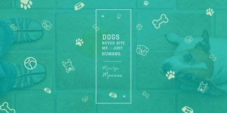 Plantilla de diseño de Citation about good dogs Image