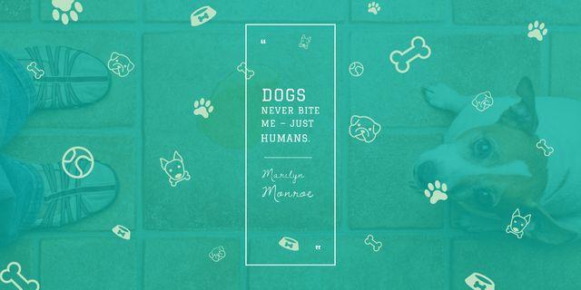 Plantilla de diseño de Dogs Quote with cute Puppy Image