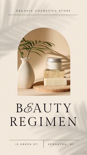 Szablon projektu Beauty Ad with Cosmetic Cream Instagram Video Story