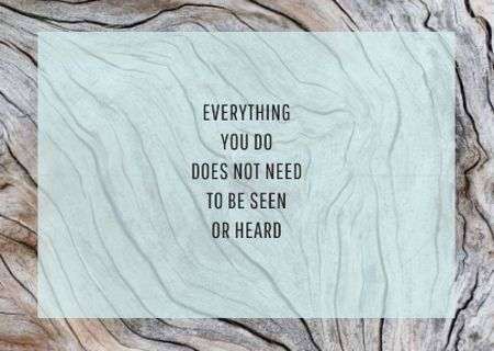 Inspirational Quote on Wooden Texture Card – шаблон для дизайну
