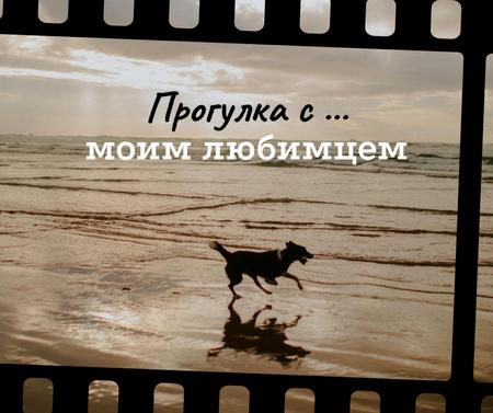 Dog Running at the Beach Facebook – шаблон для дизайна