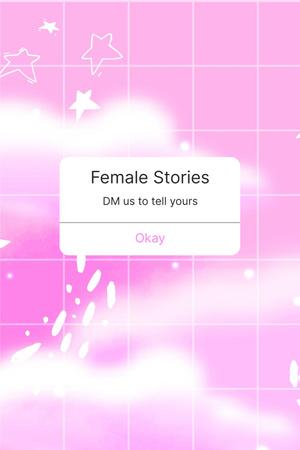 Designvorlage Girl Power Promotion on Fairy Pink Sky für Pinterest