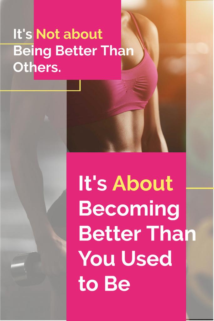 Poster with sport citation — Crear un diseño