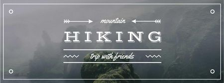 Hiking Tour Promotion Scenic Norway View Facebook cover – шаблон для дизайну