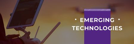 Emerging technologies Ad Email header Design Template