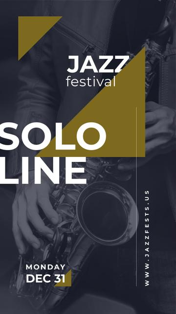 Man playing saxophone Instagram Story Design Template