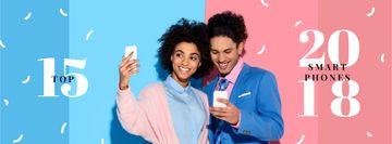 Attractive Couple taking selfie