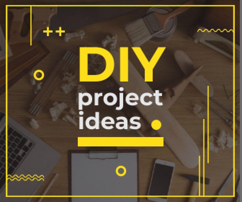 Plantilla de diseño de Diy project ideas banner  Large Rectangle