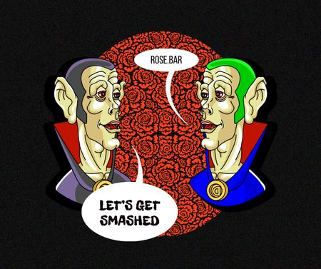 Funny Conversation of two Draculas Facebook – шаблон для дизайна