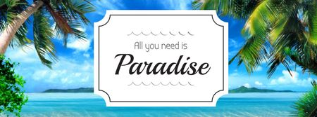 Plantilla de diseño de Summer Trip Offer Palm Trees by Sea Facebook cover