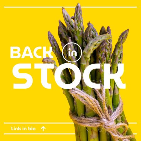 Designvorlage Veggie Store Offer with Fresh Asparagus für Instagram