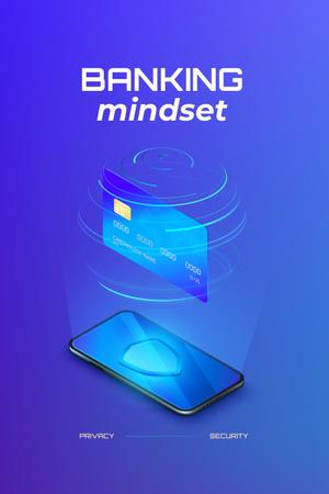 Modèle de visuel Banking Services on Phone screen - Pinterest