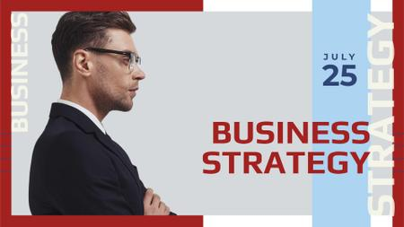 Market Strategy Ad with Businessman FB event cover – шаблон для дизайна