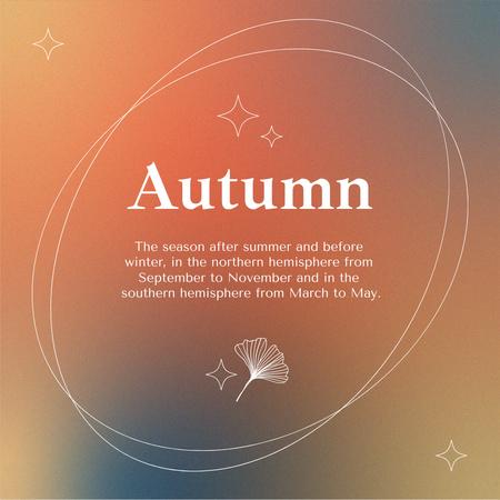 Interesting Fact about Autumn Instagram – шаблон для дизайну