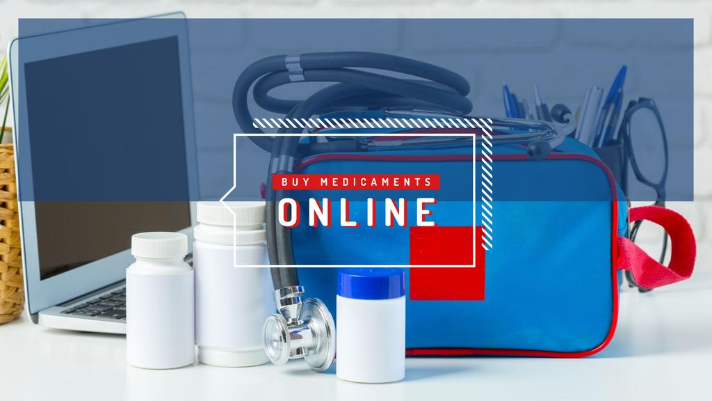 First aid kit with medications Youtube Design Template