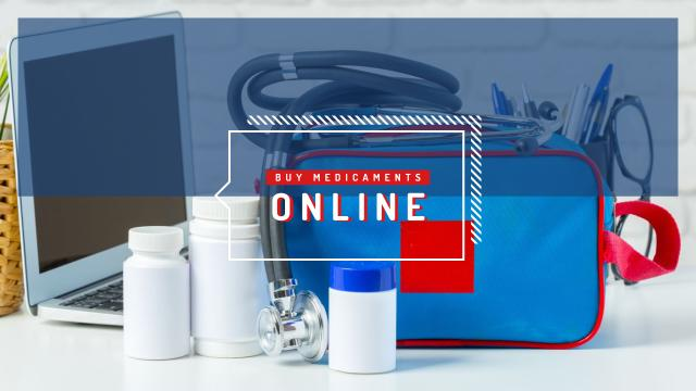 Template di design First aid kit with medications Youtube