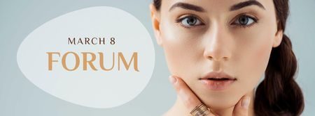 Beauty Forum Ad on March 8 Facebook cover – шаблон для дизайну