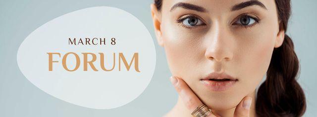 Designvorlage Beauty Forum Ad on March 8 für Facebook cover