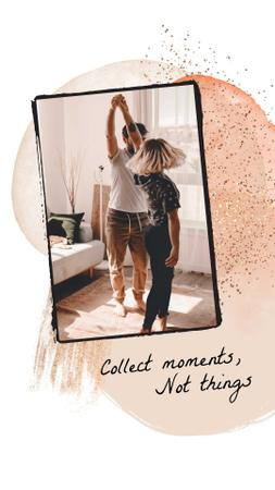 Plantilla de diseño de Happy Couple dancing at Home Instagram Story