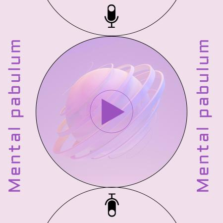 Podcast Topic Announcement with Abstract Illustration Podcast Cover Modelo de Design