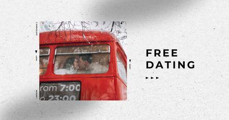 Ontwerpsjabloon van Facebook AD van Speed Dating Ad with Lovers in Bus