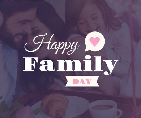 Template di design Parents with child on Family Day Facebook