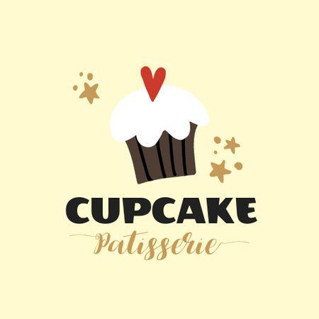Plantilla de diseño de Sweets Store Offer with Yummy Cupcake Logo