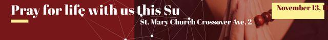 St. Mary Church Leaderboardデザインテンプレート