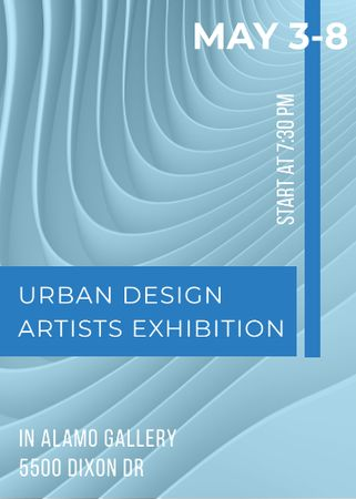 Plantilla de diseño de Urban design Artists Exhibition ad Invitation