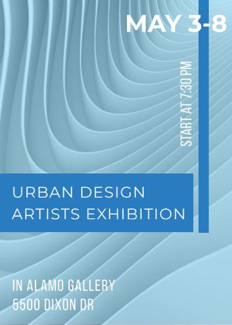 Template di design Urban design Artists Exhibition ad Invitation