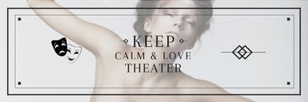 Ontwerpsjabloon van Email header van Citation about love to theater