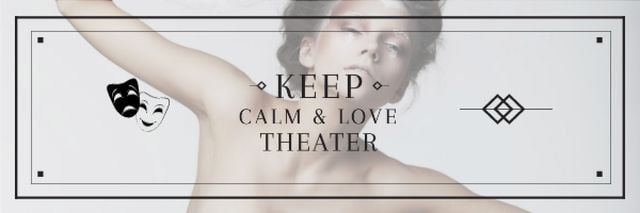 Citation about love to theater Email header Modelo de Design