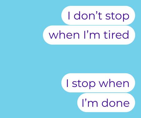 Motivational Messages on Phone Screen Facebook – шаблон для дизайна