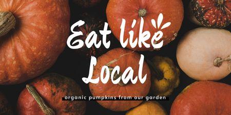 Local Farm Ad with Fresh Pumpkins Twitter – шаблон для дизайну
