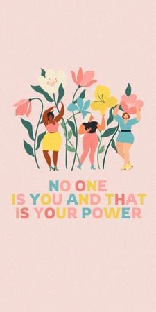 Girl Power Inspiration with Cute Unicorns Graphic – шаблон для дизайна