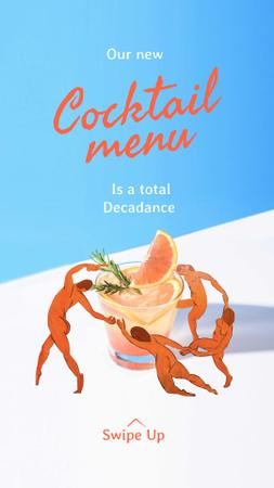 Ontwerpsjabloon van Instagram Story van Creative Announcement of Cocktail Menu
