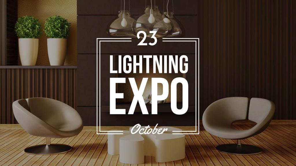 Event Announcement with Contemporary Room Design — Crea un design