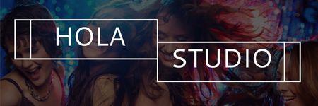 Template di design Hola studio poster Twitter