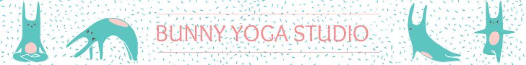 Yoga Studio Ad Bunny Performing Asana — Créer un visuel