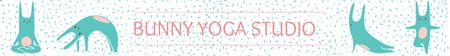 Template di design Yoga Studio Ad Bunny Performing Asana Leaderboard