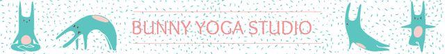 Yoga Studio Ad Bunny Performing Asana Leaderboard – шаблон для дизайну